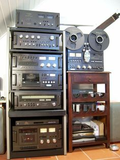 Vintage Technics with Elcassette deck, from the Prime of Technics