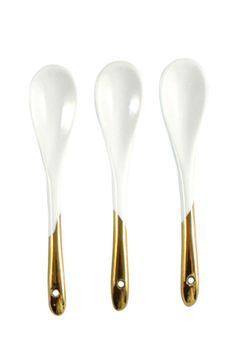 Dauville Porcelain Gold Glazed Spoons