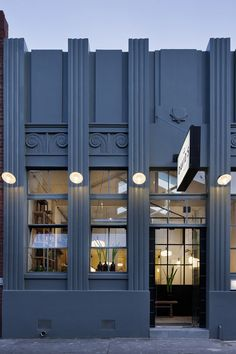 Art Deco feel - Façade extérieure bleue