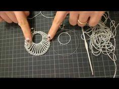 DIY tutorial orecchino a cerchio doppio uncinetto argento gioielli fai da te facile e semplice - YouTube