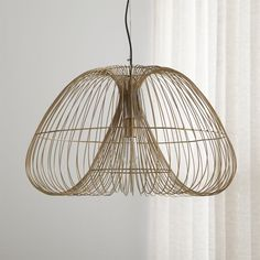 Cosmo Brass Wire Pendant Light at Crate and Barrel Canada. Discover unique furniture and decor from across the globe to create a look you love. Chandeliers, Chandelier Pendant Lights, Bronze Pendant Light, Diy Light Fixtures, Light Fittings, Brass Floor Lamp, Metal Wall Sculpture, Lamp Design, Design Design