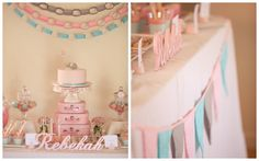 pink and blue nursery | Rebekah's First Birthday – Baby Elephant Theme | Lifes Little ...