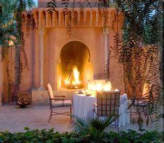 Outdoor fireplace  - Amanjena
