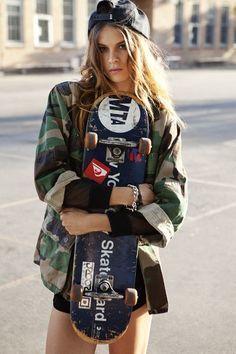 Resultado de imagen para skate moda girl