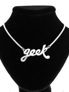 From the Craftster Community: Two necklaces - Love your inner geek & Frak! - JEWELRY AND TRINKETS