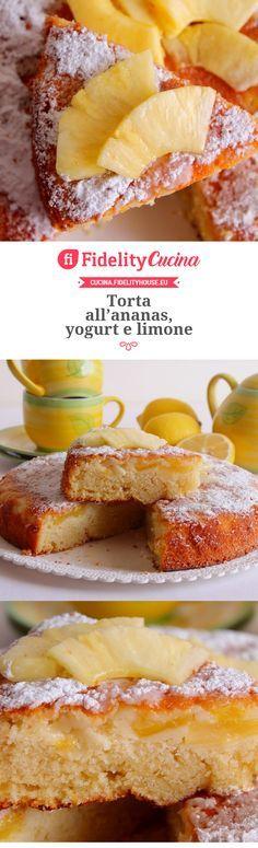Torta all'ananas, yogurt e limone