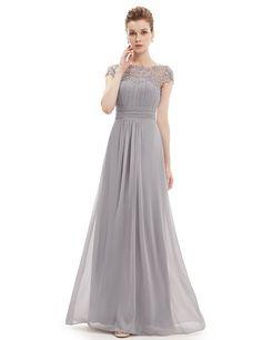 Ever Pretty Womens Elegant Floor Length Formal Chiffon Bridesmaids Dress 12 US Grey
