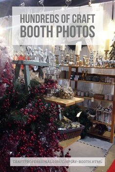 Hundreds of photos of craft fair booth display ideas. How to use tables, shelves, and grid wall displays in a 10x10 booth space to create a beautiful booth for your next craft or art fair.