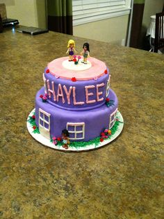 Lego friends cake, fondant, 8 years old