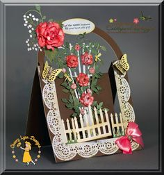 Garden Trellis Center Step Card tutorial