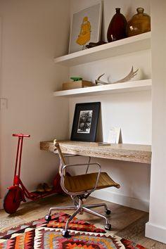 the rug, the desk...via okolgi