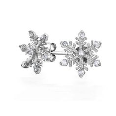 Bling Jewelry Winter Snowflake Stud Earrings CZ 925 Sterling Silver Bling Jewelry. $24.99. Silver Snowflake cz Jewelry. Snowflake stud earrings. Sterling Silver Snowflake earrings. Christmas jewelry. Sterling Silver Holiday Jewelry. Save 52%!