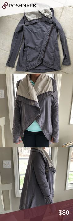 Lululemon Savasana Wrap Jacket Super cozy, Lulu wrap jacket in grey. Great condition. Please let me know if you need more details. Thank you! lululemon athletica Jackets & Coats