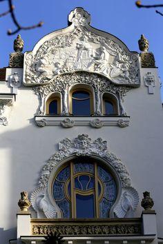 Kőrössy villa, Budapest by Gyula Kincses - Photo 253032725 / Architecture Artists, Art Nouveau Architecture, Beautiful Architecture, Beautiful Buildings, Architecture Details, English House, Brick And Stone, Belle Epoque, Lovers Art