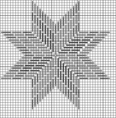 Eight Point Star chart, originally appearing on my blog Nuts about Needlepoint (http://www.nuts-about-needlepoint.com) Image  copyright Napa Needlepoint.