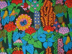 "Tampella fabric ""Paradise"" design Ann-Marie Netterdag"