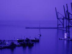 Velero en el Puerto. Málaga