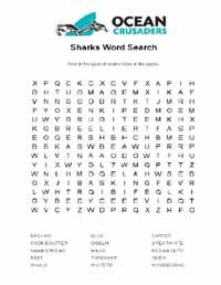Shark wordsearch