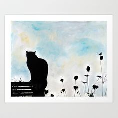 Blue Days Art Print by Karen Lindale - $20.80