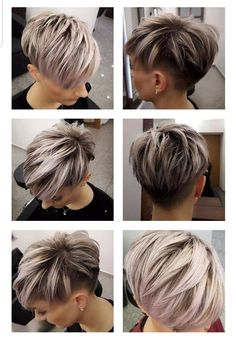 Frisuren Is Your Air Conditioning Filter Important? Pixie Haircut Styles, Wavy Haircuts, Cute Hairstyles For Short Hair, Short Hair Styles, Short Haircut, Short Silver Hair, Funky Short Hair, Short Hair Cuts For Women, Short Hair Undercut