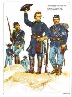 1:Sergeant Major,US Cavalry,1866.2:Corporal,US Cavalry,1866.3:Captain,US Cavalry,1866.4:Sergeant,US Infantry,1866.