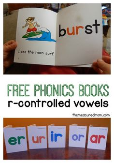 These free printable phonetic books will help your child master those tricky r-controlled vowels!