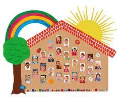Passbild-Haus Das sind wir - alle Kinderfotos einer Gruppe - gibt den Kindern ein Gefühl von Zugehörigkeit #Kindergarten #Kita