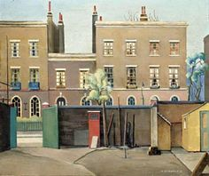 Harold Steggles, Coborn Street, Bow A member of the East London Group of artists. Camden London, East London, London Art, Camden Town, Bow Art, London Painting, London Illustration, London Poster, Architecture Sketchbook