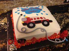 Fire truck birthday cake...