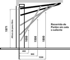 Resultado de imagen para PORTONES LEVADIZOS Gate Design, Facade Design, Door Design, House Design, Carport Garage, Garage Plans, Garage Doors, Kinetic Architecture, Tool Sheds