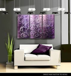 Purple Contemporary Metal Abstract Wall Art / by statements2000, $195.00