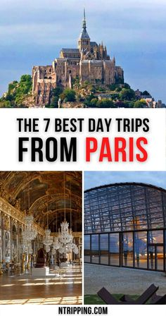 Leave the hustle of the French capital behind and explore the countryside on the best day trips from Paris. Explore history, wine, and grandeur… Paris day trip to Versailles, Day trip from Paris to Giverny, Paris day trip to Mont-Saint-Michel, Day trip from Paris to the Normandy D-Day Beaches, and much more fascinating tours on the list. European Travel Tips, Paris Travel Guide, European Destination, Travel Abroad, Travel Europe, France Travel, Travel Info, Travel Deals, Travel Destinations