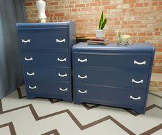 dressers for boys room in BM Van Deusen Blue