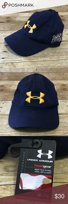 Under Armour Strapback Hat Naval Academy Heat Gear Under Armour Strapback Hat Naval Academy Heat Gear Baseball Blue Bill Goat  Condition:  This item is new with tags!  All items come from a smoke/ pet free environment. Under Armour Accessories Hats