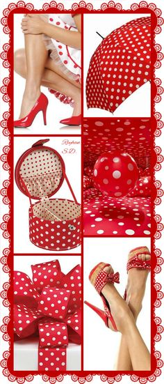 '' Polka Dots- Red & White '' by Reyhan S.D.