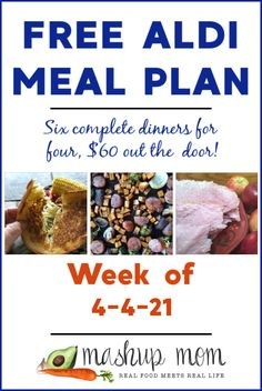 Free ALDI Meal Plan week of 4/4/21 - 4/10/21: Six complete dinners for four, $60 out the door! Enjoy everything from Easter ham to roasted asparagus grilled cheese this week, and so much more. Save time & money with meal planning; new free meal plans weekly. Easter Ham, Easter Dinner, Spring Mix Salad, Meal Planning Board, Aldi Meal Plan, Real Food Recipes, Healthy Recipes, Free Meal Plans, Dinners