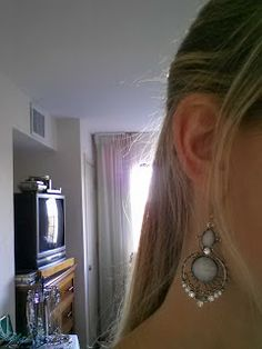 thrifting for earrings