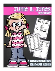 "FREE!  Junie B. Jones ""Book Buddy"" {No Prep Reading Response Graphic Organizers}"