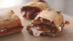 hazelnut s'mores SANDWICH recipe - embrace the mess!