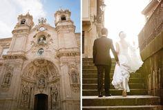 Destination Wedding Location in Spain ✈ San Sebastian. The impressive San Maria del Coro Basilica (pictured) was built in the 16th century and makes a beautiful wedding ceremony venue.