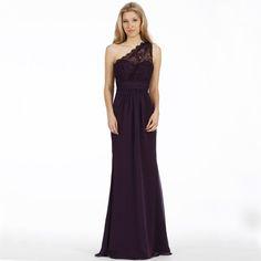 Floor Length Chiffon Elegant Sweetheart Dress 2016 New Party Dress Long Black Wedding Bridesmaid Dress Sexy One Shoulder