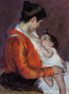 Mary Cassatt painting.The bond and love between mother and child is so precious.