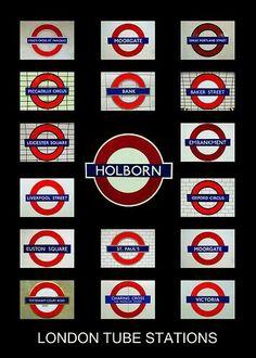 Estaciones metro de Londres