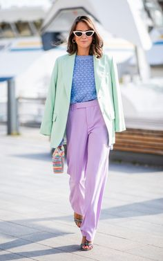 Stockholm fashion week street style pastel colours New season styling tips to take from Stockholm Fashion Week - Fashion Cute Spring Outfits, Chic Outfits, Fashion Outfits, Fashion Trends, Pastel Outfit Spring, Man Fashion, Modest Fashion, Summer Outfit, Boho Fashion