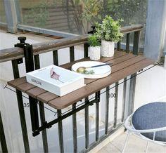 Ideas para decorar el balcón Balcony Furniture, Cottage Furniture, Outdoor Furniture Sets, Bar Dining Table, Cafe Tables, Kitchen Dining, Patio Railing, Deck Bar, Small Balcony Design