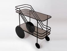 Come As you Are Rolling Bar Cart by Dante Goods And Bads.