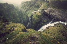Waterfall of Glymur, Iceland