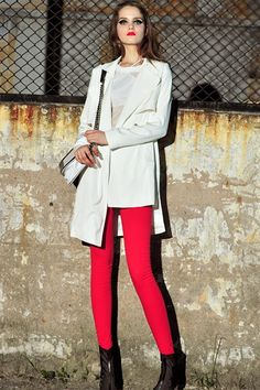 The coat made of terylene, featuring notched lapels, pure color, long sleeves, single breasted button front, irregular design, all in loose fit.$101