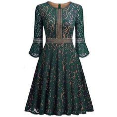 Vintage Lace A Line Dress
