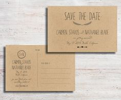 Rustic Printable Save the Date Postcard Diy by SimplyFetchingPaper, $20.00